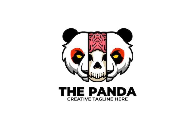 Logo mascotte e-sport del panda selvaggio