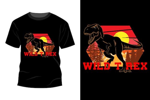 Wild t rex design vintage retrò