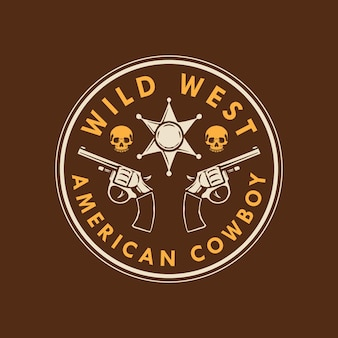 Wild west american cowboy logo design