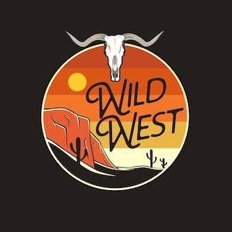 Illustrazione grafica del selvaggio west