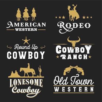 Etichette del selvaggio west