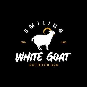 Illustrazione vettoriale di capra bianca selvatica idee animali