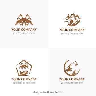 Collezione di logo wild wolf