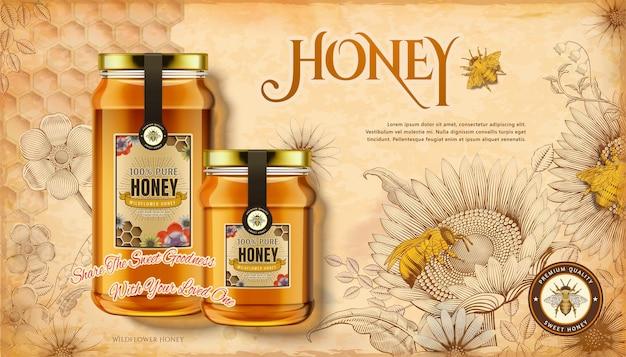Annunci di miele millefiori