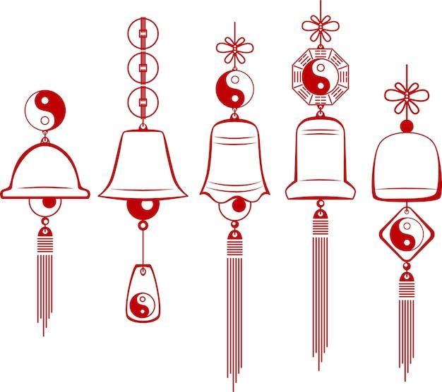Campanelli eolici. sagoma di un campanello di vento.