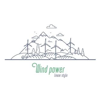 Concetto di energia eolica