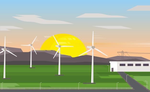 Energia della turbina eolica, centrale elettrica della turbina eolica