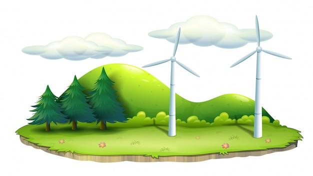 Mulini a vento nell'isola