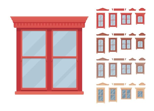 Finestra per edificio dotata di vetro in cornice