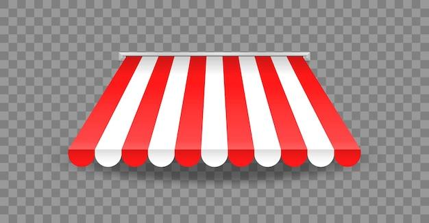 Pensilina su sfondo trasparente Vettore Premium