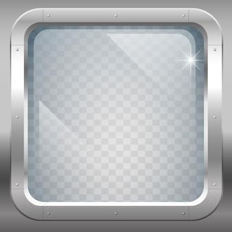 Finestra con vetro trasparente