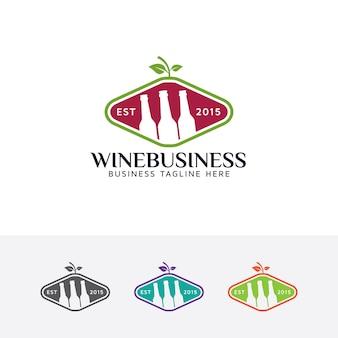 Logo del vino e delle bevande