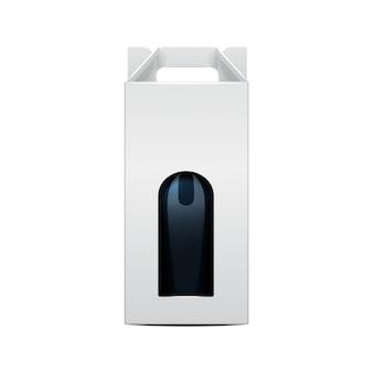 Bottiglia di vino e pacchetto pieghevole modello di bottiglia di vite.