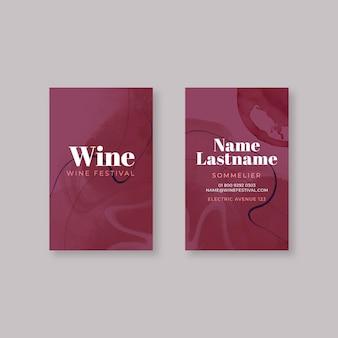 Modello di biglietto da visita del vino