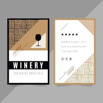 Biglietto da visita verticale bifacciale per vino