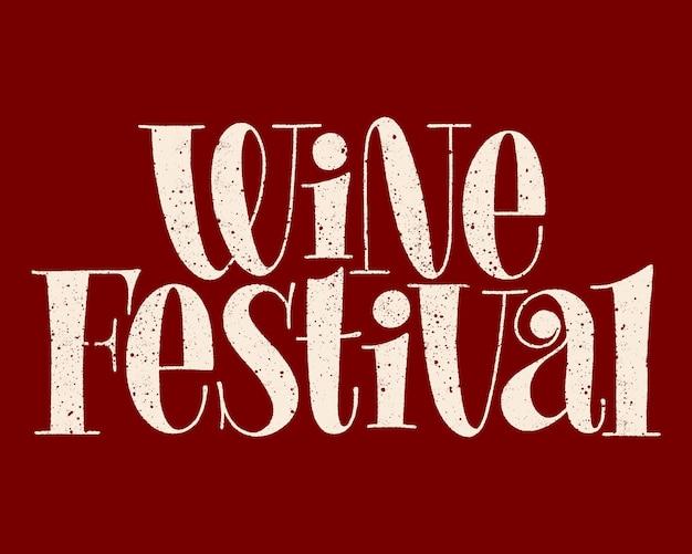 Iscrizione della mano del festival del vino