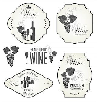 Etichette di vino
