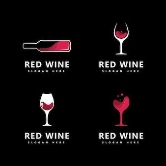 Modello di progettazione dell'icona del logo del vino illustrazione vettoriale
