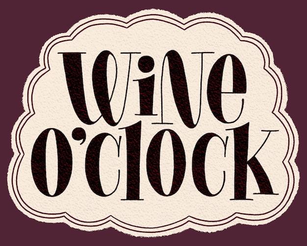 Iscrizione della mano dell'orologio del vino