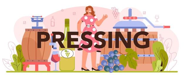 Concetto di produzione di vino vino d'uva in bottiglia o bevanda alcolica in vetro