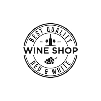 Emblema vintage logo negozio di vino