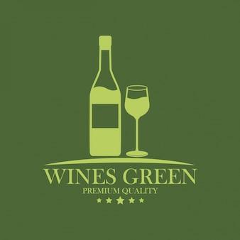 Vini vino di qualità premium verde