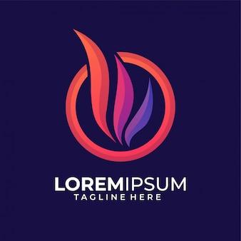 Ala colorata logo design