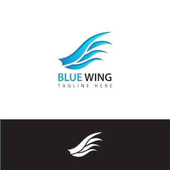 Disegno del modello del logo da viaggio ala