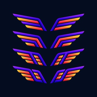 Collezione di logo di ali