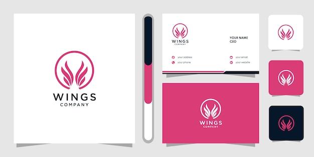 Modello di progettazione di logo di ali