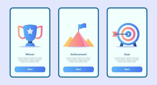Obiettivo del vincitore per le app mobili