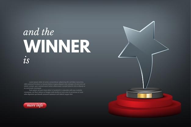 Premio vincitore, vittoria in competizione o sfida aziendale.