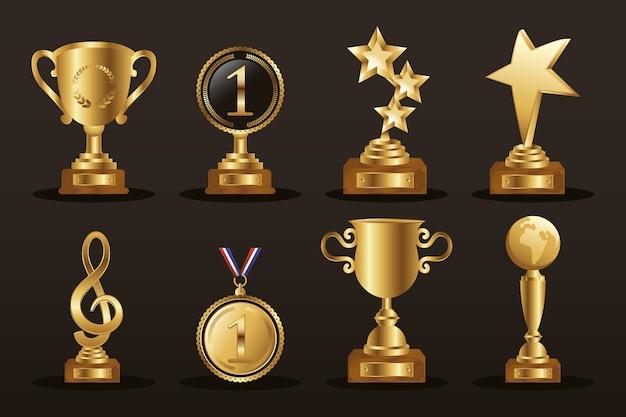 Vincitore otto trofei icone d'oro