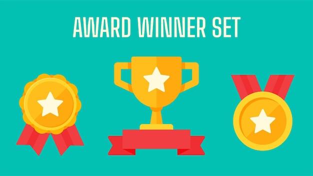 Trofeo del vincitore. il trofeo d'oro.