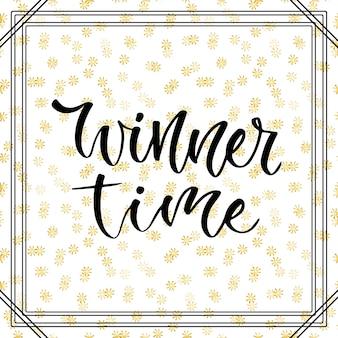 Tempo del vincitore. banner per i social media