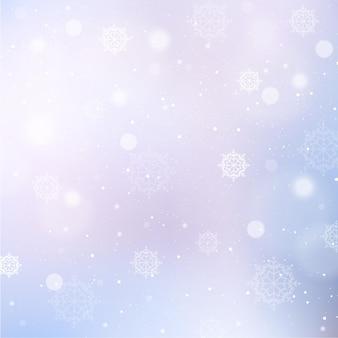 Sfondo invernale con fiocchi di neve