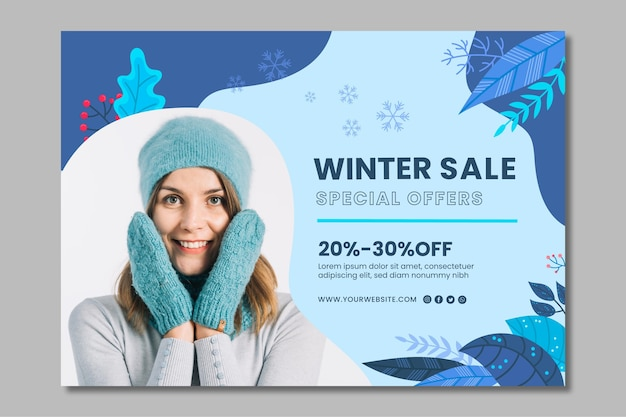 Modello di banner invernale