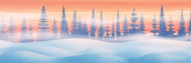 Serata invernale con bufera di neve e cumuli di neve