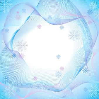 Frattali invernali sfondo texture astratta