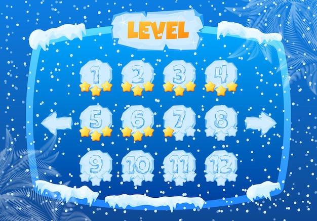 Pannello di controllo freddo della stagione di gioco invernale