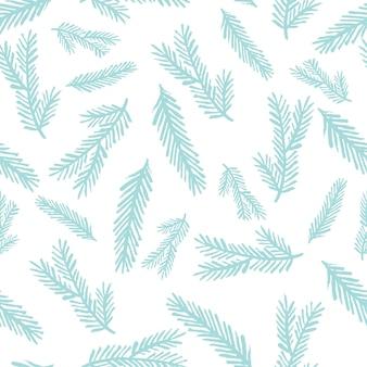 Reticolo senza giunte grafico di inverno con gli alberi di natale.