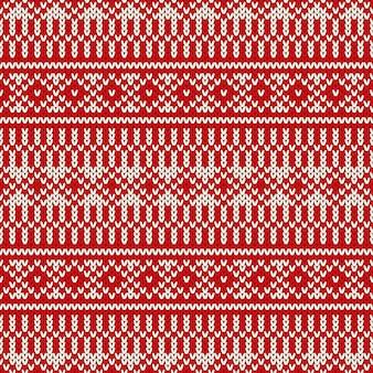 Motivo a maglia fair isle per le vacanze invernali.