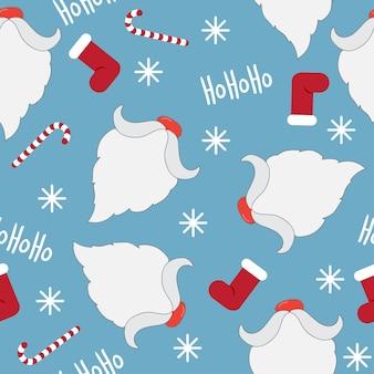 Fondo senza cuciture del modello di vacanza invernale tema di natale e capodanno felice
