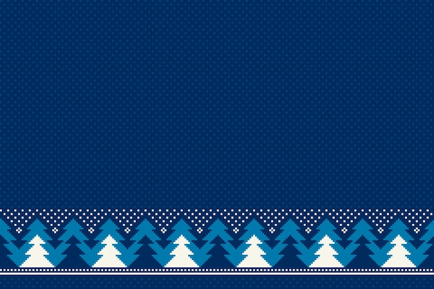 Modello di pixel senza soluzione di continuità per le vacanze invernali con ornamento di alberi di natale