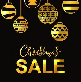 Vacanze invernali lettering poster con titolo di vendita di natale