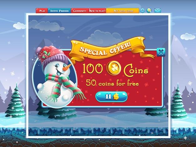 Finestra dell'offerta speciale per le vacanze invernali