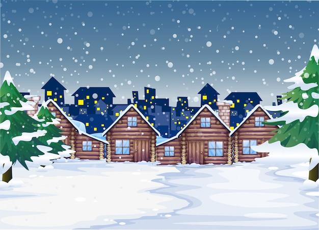 Uno sfondo di notte invernale