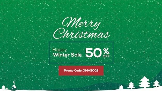 Offerte invernali e design di banner promozionali