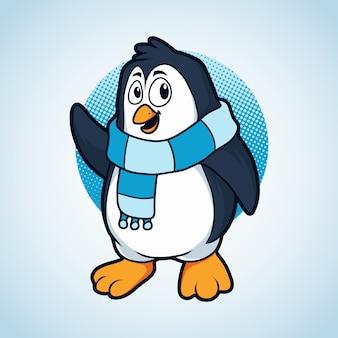 Pinguino invernale