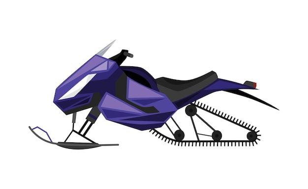 Giro invernale sul disegno dell'illustrazione della motoslitta